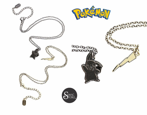 pokemon-pikachu set 2 collares oficial