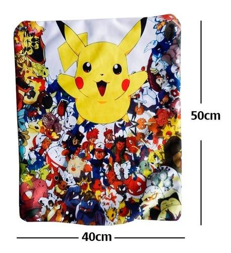 pokemon pikachu y varios personajes funda de almohada