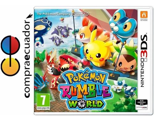 pokemon rumble world nintendo 3ds juego físico original 3 ds
