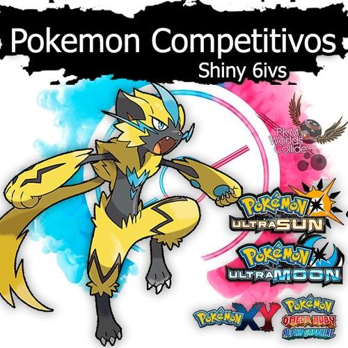 pokemon shiny ultra sun sol y moon luna 6 ivs competitivos