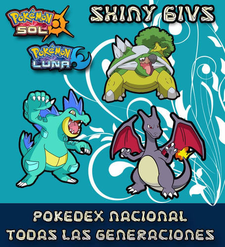pokemon sol luna pokedex nacional completa 6ivs tenshi g**