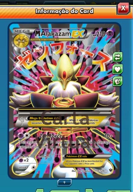 Pokemon Tcg Online Mega Alakazam Ex Fa Carta Virtual 3790