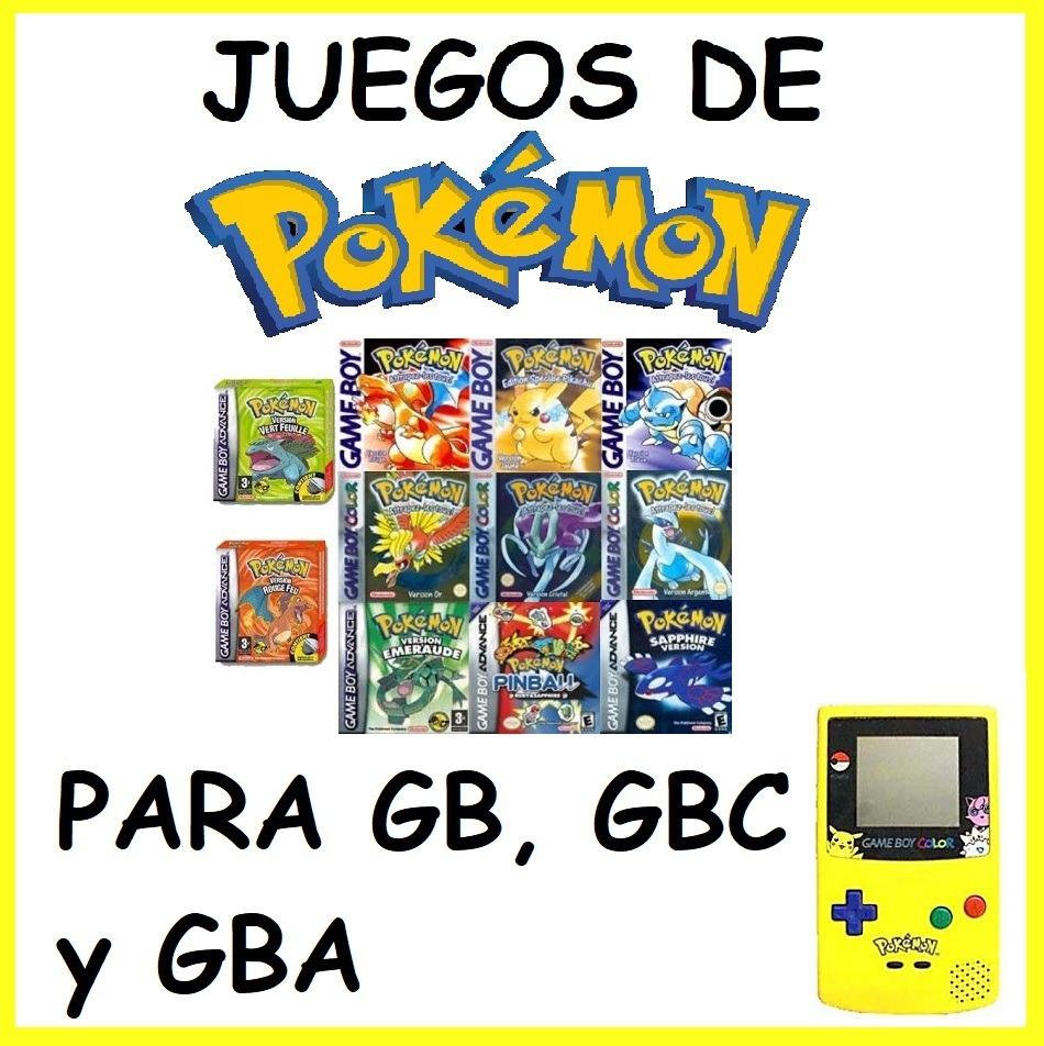 Pokemon Todos Los Juegos De Gb Gbc Y Gba Para Pc 11 00 En