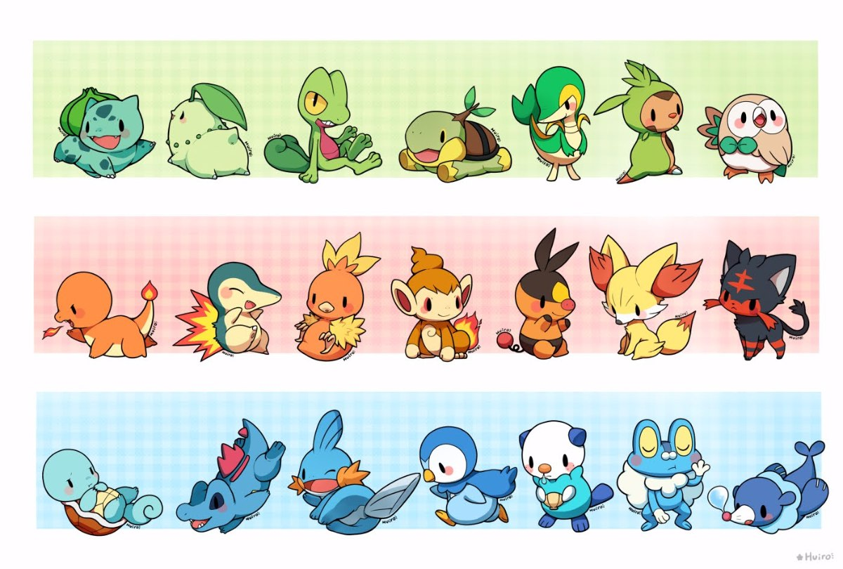 Pokémon Todos Os Iniciais Lv5/100 Sun Moon Ultra Xy Oras ...