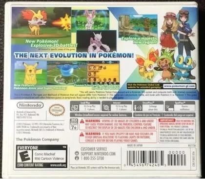 pokemón x 3ds