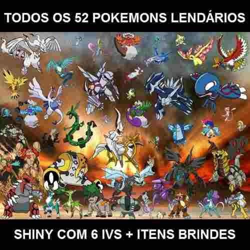 pokemon x y todos os 54 lendários com mega stones de brinde