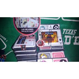 Poker 100% Plástico Número Grande (no Es Royal) Dos Mazos