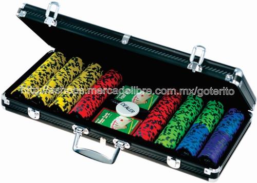 poker juego 400 fichas 13.5 g estuche aluminio grado casino