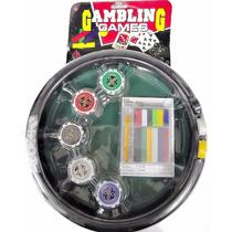 Set Gambling Games 5 Dados 20 Fichas Poker Profesional Tazón