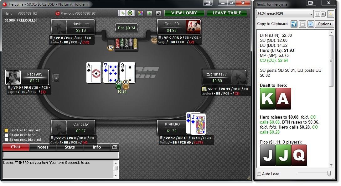 2 2 poker tracker mcdonalds hollywood