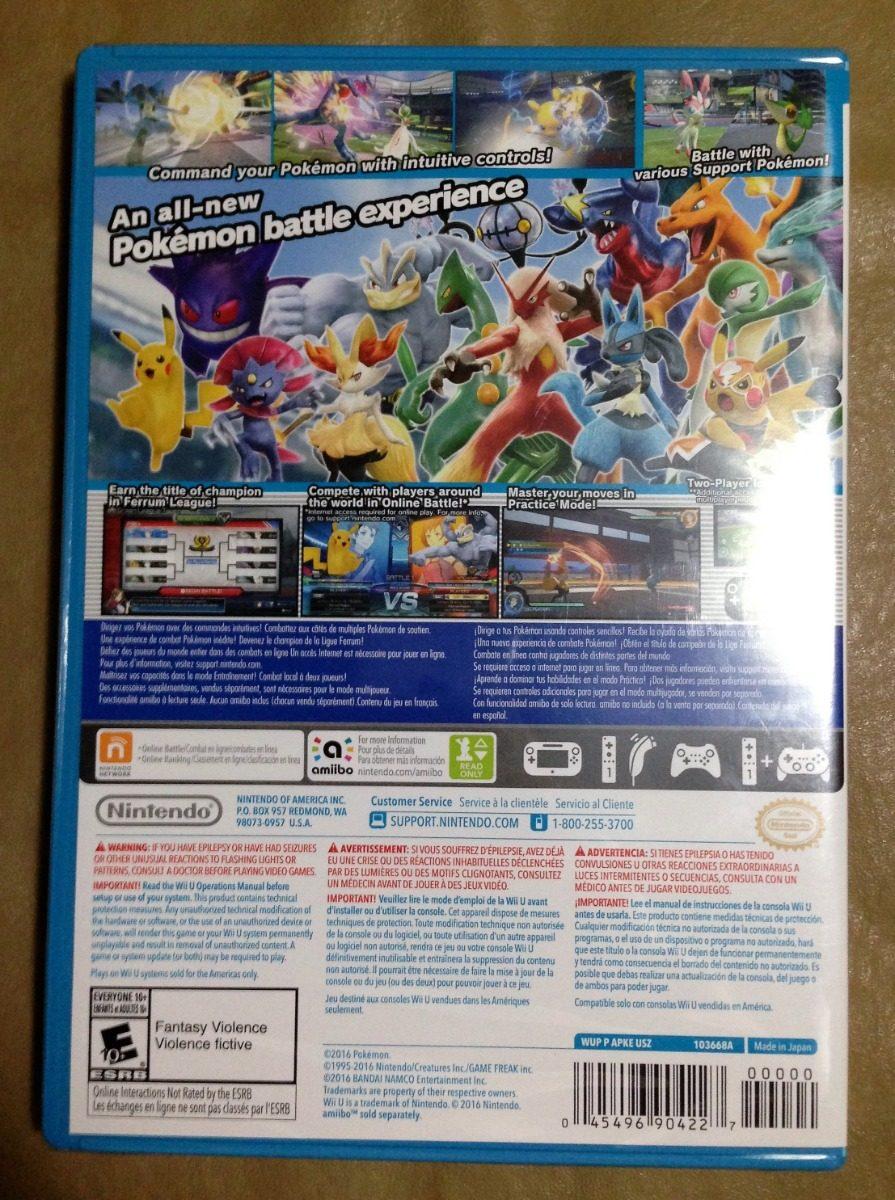 Pokkén Tournament Pokemon Wii U Lacrado Frete Grátis