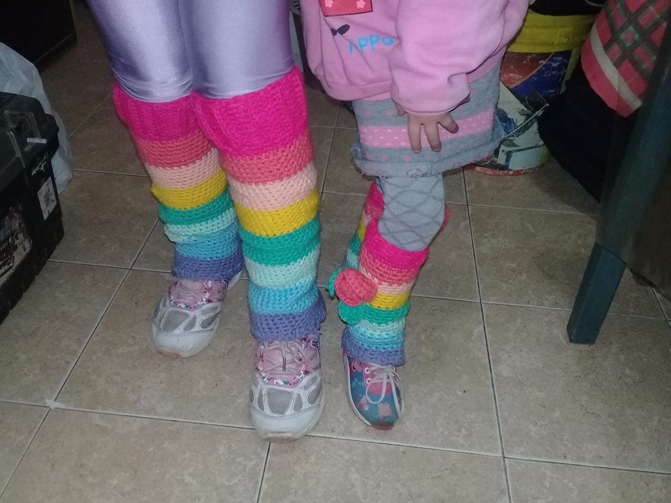 polainas crochet arco iris mucha lana hermosas. Cargando zoom. 72416927e42