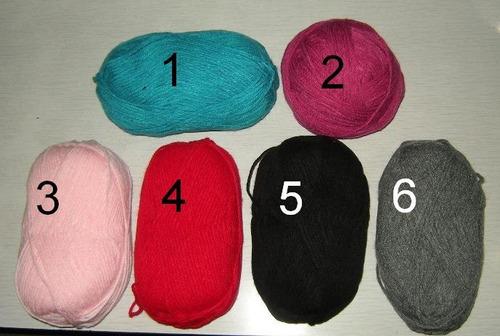 polainas de lana tejidas a 2 agujas