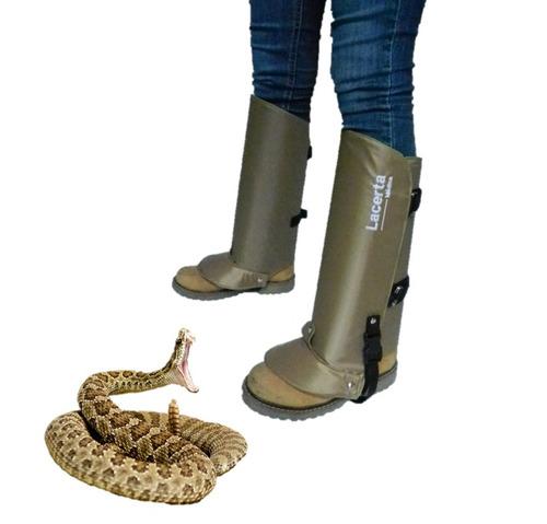 polainas protectoras contra mordeduras de serpientes