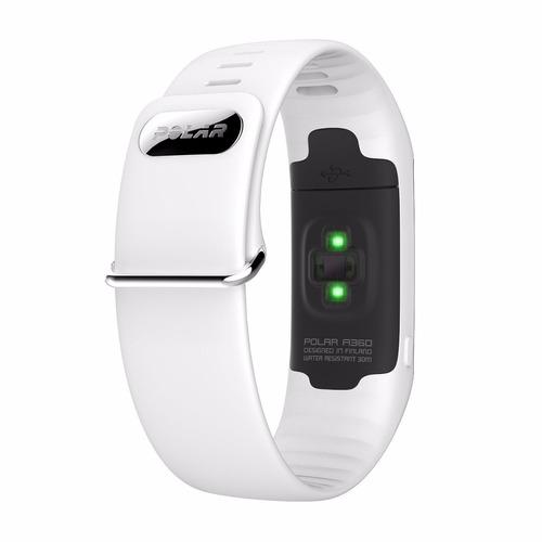 polar a360 fitness tracker con monitor cardiaco medianblanca