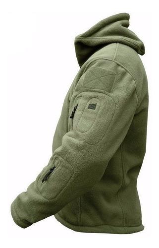 polar  chaqueta segunda  capa  táctico militar con capucha