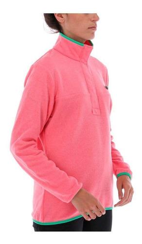 polar harborside fleece pullover rosa