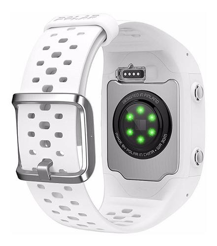 polar m430 white reloj gps monitor frecuencia cardíaca m l