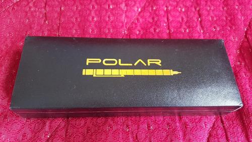polar pen. stylus. jugete. boligrafo magnetico color dorado