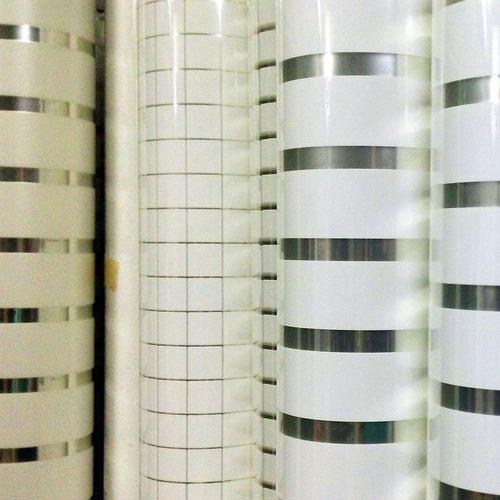 polarizado esmerilado blanco lineas 1,52 x  metro lineal