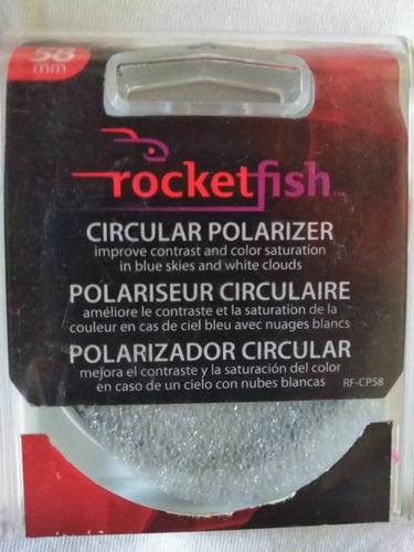 polarizador circular para lente de 58 mm marca rocketfish