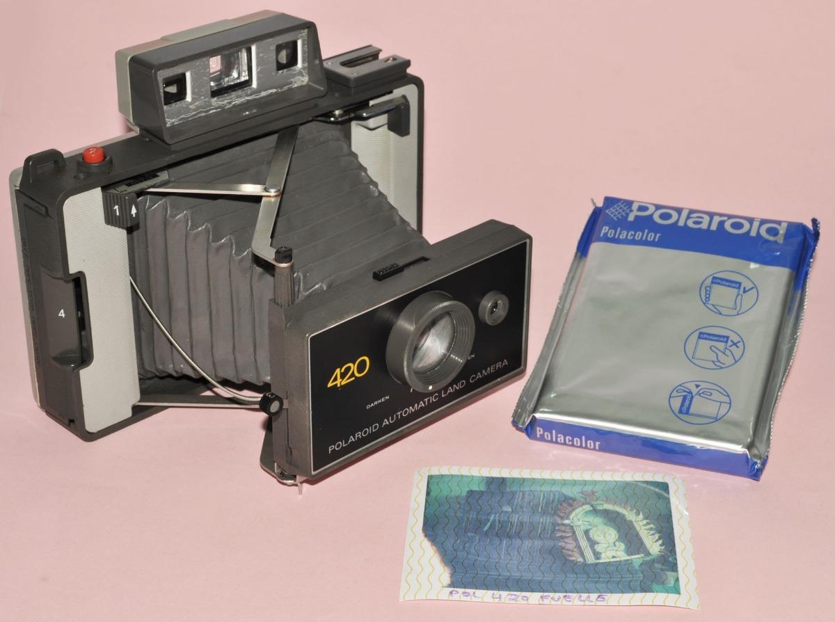 3977b9ed56 polaroid 420 con cartucho caducado y pila. de fuelle. buena. Cargando zoom.