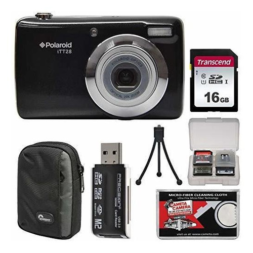 polaroid itt28 20mp 20x zoom digital camera (black) with 16g
