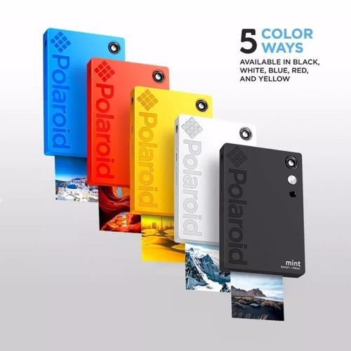 polaroid mint shoot + print - color polsp02b+sd 32gb grátis