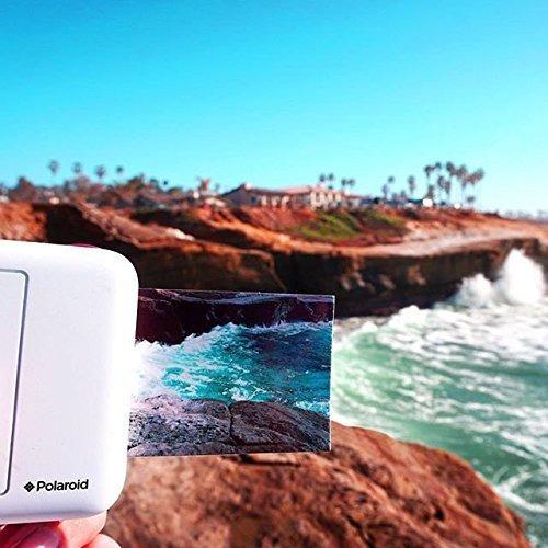 polaroid snap purple cámara instantánea 10mp