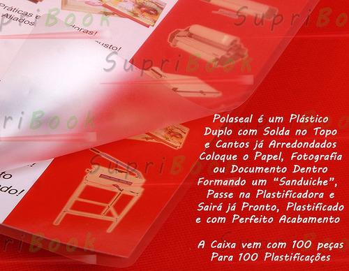 polaseal a3 - 0,05 - 100 plásticos importados - 303 x 426mm