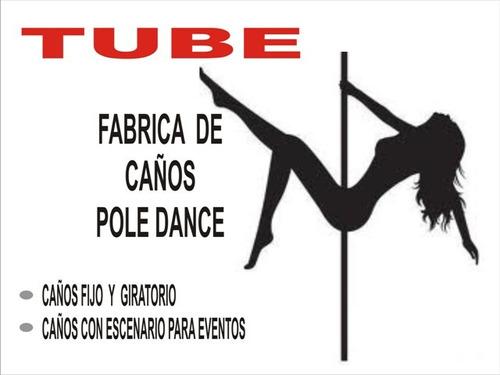 pole dance (baile del caño), caño giratorio estático.