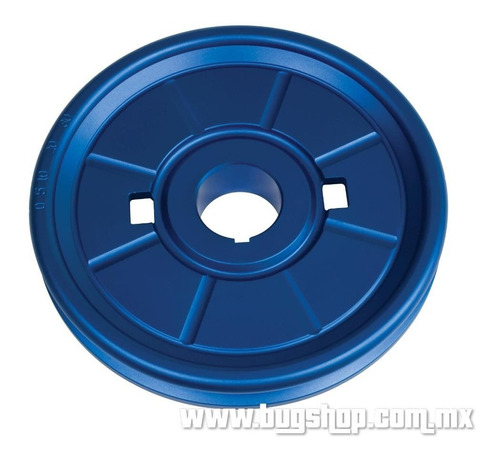 polea de aluminio diseño original azul empi