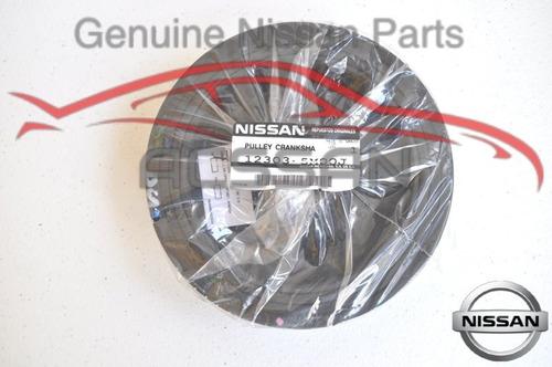 polea de cigüeñal sentra motor 1.8l 01 a 06 nissan original