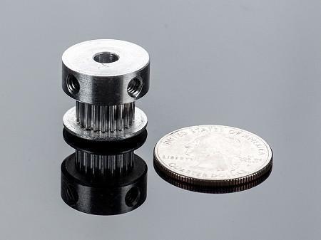 polea dentada de aluminio gt2- 20 dientes eje 5mm