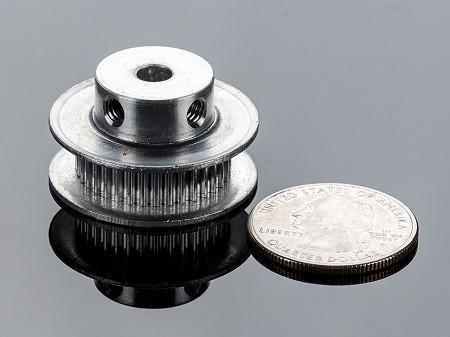 polea dentada de aluminio gt2- 36 dientes eje 5mm