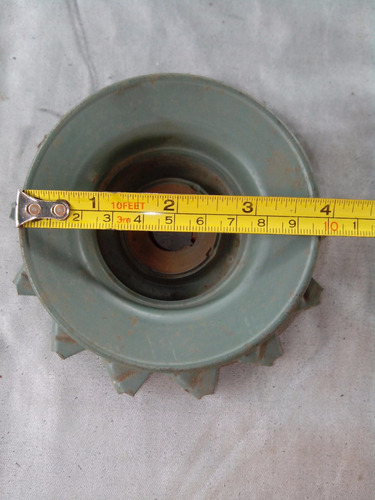 polea doble metalica