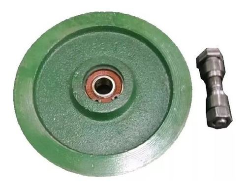 polea fundicion porton levadizo 100 mm ruleman canal en u