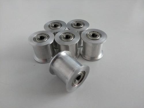 polea guía de aluminio aleado para correa sincrónica de 16mm