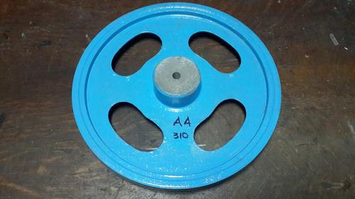 poleas de aluminio 2 canales a 310mm