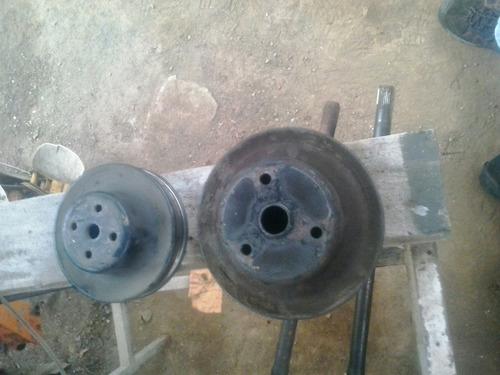 poleas de damper y bomba de agua usados