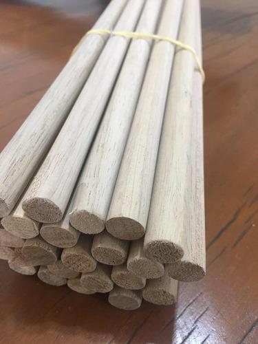 poleiro de madeira 12 mm - 25 unidades - até 60 cm