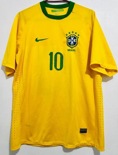 polera 10 de brasil futbol original talla xl nike