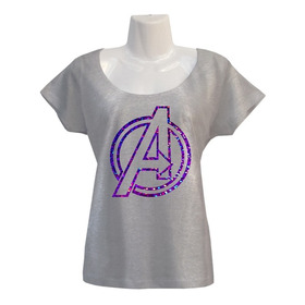 Polera Avengers - Marvel Cómics - Super Héroes - Escotada