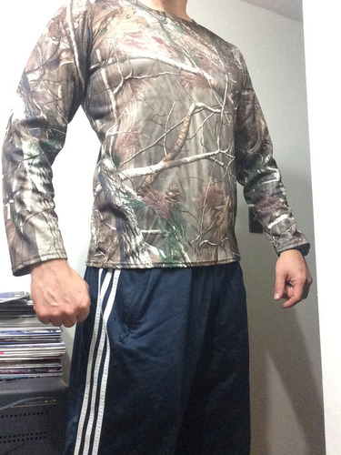 polera caza pesca outdoor real tree airsoft paintball