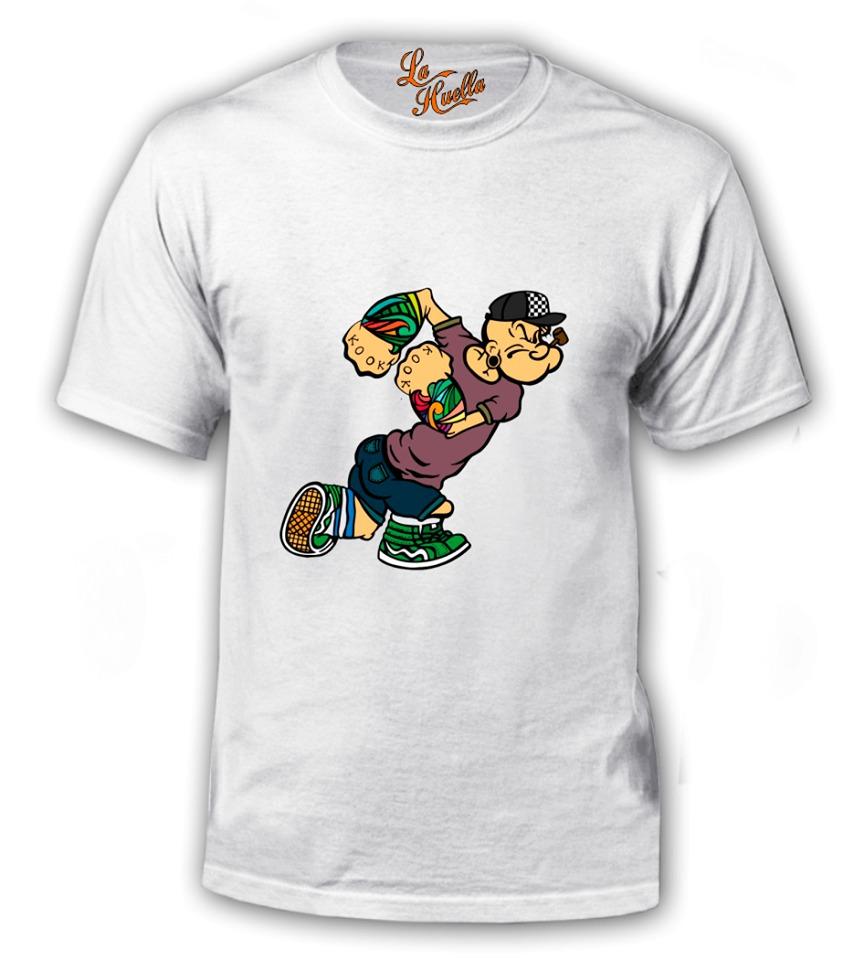 52ab07afbd981 Polera De Popeye - Rapero Urban   La Huella -   7.000 en Mercado Libre