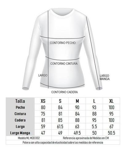 polera dryfit manga larga c/cierre primeracapa melange mujer