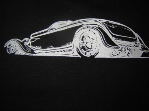 polera estampada hot rod en serigrafia