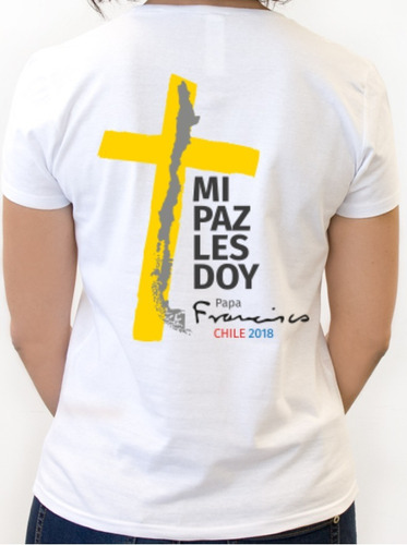polera estampada papa francisco