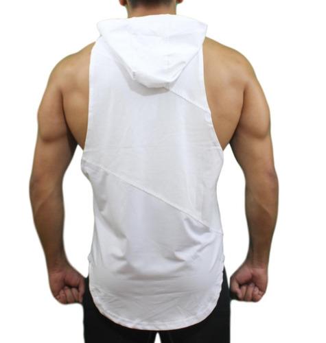 polera estilo poleron capucha gym fitness