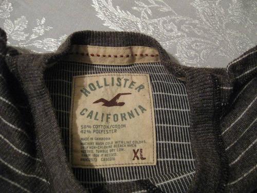 polera hollister california talla xl manga larga